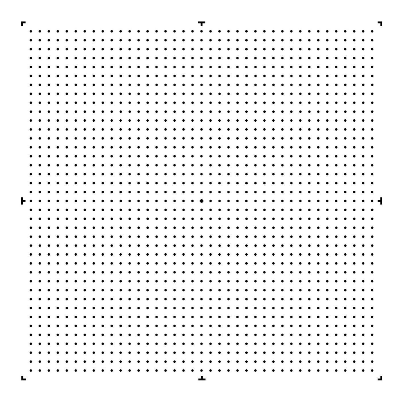 Matrix of rings pattern of Argolight slides