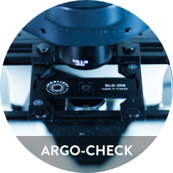 Photo of Argo-Check package including slide and box