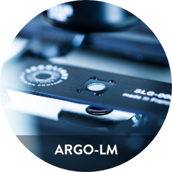 Image of Argo-LM, a fluorescent calibration slide for Low magnification systems