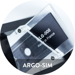 Photo of Argo-SIM package including slide and box