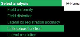 Screenshot of Tests selection in Daybook Analysis software