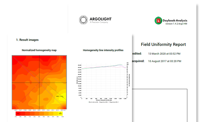 Image of two report: one generated in Daybook Analysis and one with Daybook Data Manager