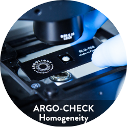 Image of Argo-Check Homogeneity, a fluorescent calibration slide to check field uniformity on your fluorescent imaging systems.