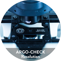Image of Argo-Check Resolution, a fluorescent calibration slide to check resolution on your fluorescent imaging systems.