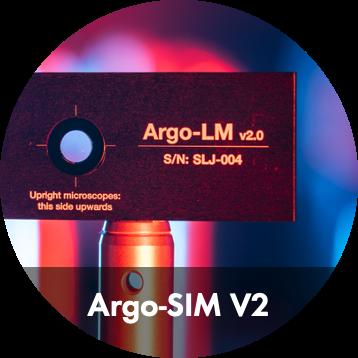 Image of Argo-SIM, a fluorescent calibration slide for SIM microscopes